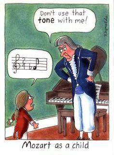Mozart as a child...even arguments were musical.