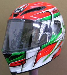 AGV Helmet Art Design #161 ~ Hand Painted Helmets - Design your own today..!!