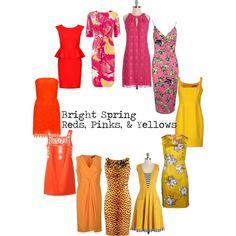 Bright Spring Reds, pinks, & yellows