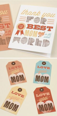 Free Mother's Day printables 'Best Mom' Card and Gift Tags