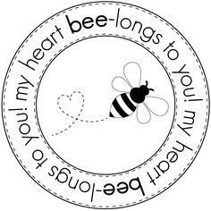 Valentine Bee - 5 digi stamps/sentiments  אתר ובו המון (!!!) חותמות דיגיטליות וקבצי חיתוך שונים