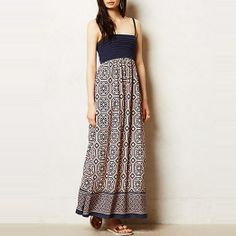 Rank & Style Top Ten Lists | Anthropologie Carreau Maxi Dress #rankandstyle