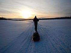 Arc'athlete Joe Grant at the Iditarod Trail Invitational