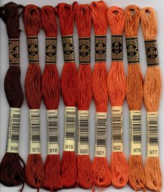 DMC 976 blood orange stranded floss embroidery thread brand new