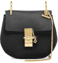 Chloé Drew Mini Chain Shoulder Bag, Black - how beautiful this little bag is?! Check it out by clicking on the picture.