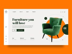 Furniture designed by Nadya Lazurenko. Connect with them on Dribbble; Web Design Mobile, Web Mobile, Web Ui Design, Web Design Trends, Ad Design, Layout Design, Email Design, Ui Web, Responsive Web