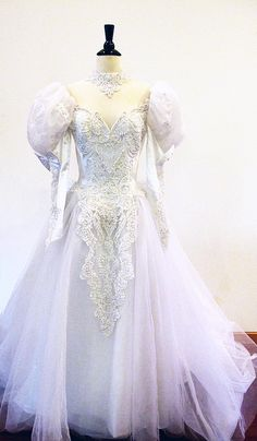 Bridal gown / Etsy Weddings / Tulle and Lace by StraylightVintage