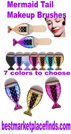 Simple and attractive mermaid tail makeup brush that will get the job done right.