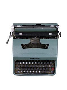 Baby Boomers memories - Olivetti Vintage Typewriter, Turquoise