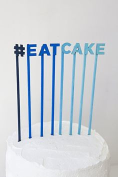"""We love how even the most simple cake topper can take your cakes to a whole new level of awesome and we've found15 super quick and easy DIY ideas to get that cake on the """"best dressed"""" list."""