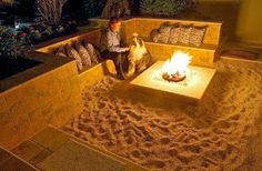 33 Amazingly Creative Ideas To Make Your House Awesome: Sandy Beach Fire Pit Area