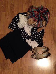 primark cardigan, forever 21 blouse, steve madden flats, target blanket scarf