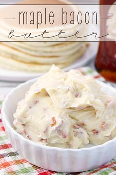 Maple Bacon Butter - It only takes 3 ingredients to take your butter from blah to WOW!!! Great on top of sweet potatoes, toast, waffles or pancakes. #BaconMonth2015: