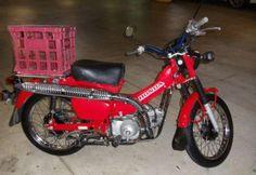 Postie bike - Honda CT110 with Milkcrate