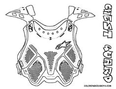 Coloring Page Dirt Bike Chest Guard At YesColoring
