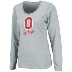 Ohio State Buckeyes Women's Gray Mako II Slub Long Sleeve Shirt Ohio State Gear, Ohio State University, Ohio State Buckeyes, Long Sleeve Shirts, Graphic Sweatshirt, Gray, Sweatshirts, Clothes, Shopping