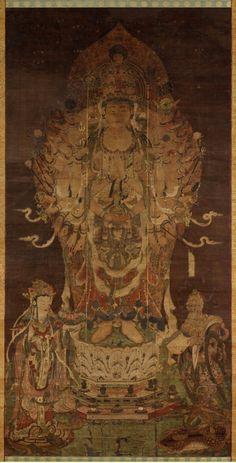 {转载}东京国立博物馆藏<wbr>日本国宝-12世纪《千手观音像》