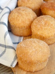Shopgirl: Cinnamon Sugar Donut Muffins  they look like the recipe i've been looking for for swedish donuts my mother would very occasionally make.