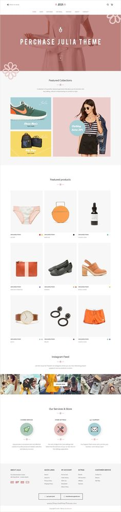 Julia is beautifully design premium #PSD #template for multipurpose #eCommerce websites download now➩ themeforest.net...
