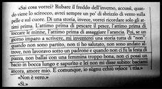 """Una storia tutta di """"non"""" (Davide Enia, Così in terra; Dalai ed., 2012, pag. 91)."""