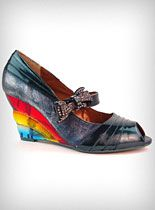 Over The Rainbow Wedges. I am not a huge fan of wedges, but I would wear these.