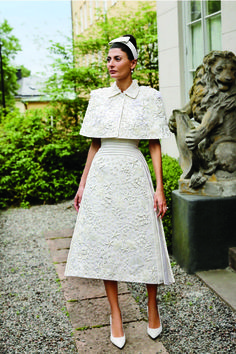 Italian fashion editor Giovanna Battaglia in her Thom Browne dress for the wedding dinner after her civil wedding to Swedish real estate developer Oscar Engelbert in the spring of 2016 in Stockholm Giovanna Battaglia, Civil Wedding, Wedding Gowns, Fashion Editor, Fashion Show, Woman Fashion, Aisle Style, Vetement Fashion, Oscar Dresses