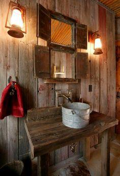 geraumiges rustikale badezimmer seite abbild oder abbcdefac
