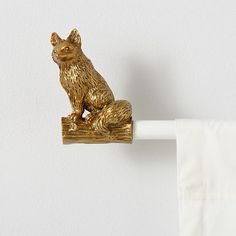 These sly little fox curtain finials are ready to add a wild touch to your windows.