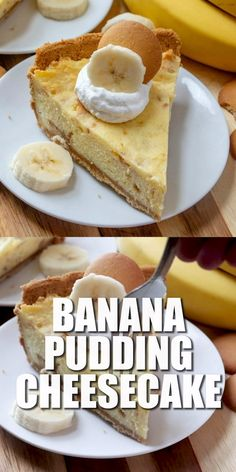 Banana Pudding Cheesecake is an easy recipe with our favorite banana pudding in cheesecake form. So unbelievably yummy! This Banana Pudding Cheesecake is an easy recipe with our favorite banana pudding in cheesecake form. So unbelievably yummy! Easy Banana Pudding, Banana Pudding Cheesecake, Banana Pudding Recipes, Cheesecake Recipes, Dessert Recipes, Cheesecake Bars, Pudding Cake, Pumpkin Cheesecake, Easter Recipes