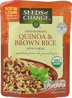 Seeds of Change Certified Organic Quinoa  Brown Rice With Garlic 1 x 85oz *** You can find out more details at the link of the image.