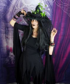 Witch Dress Would a Witch Wear Dress by Moonmaiden Gothic Clothing UK