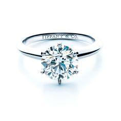 Brides.com: Round-Cut Engagement Rings. Tiffany setting engagement ring in platinum, Tiffany & Co. See more Tiffany & Co. engagement rings.