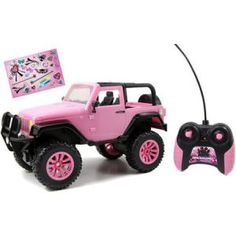 The Pink Girlmazing Big Foot Jeep Radio-Controlled Vehicle is one of our top Jeep toy choices and sure to be a hit for any girl! Girlmazing by Jada Toys offers a girl's toy that kids can apply their distinctive, unique touch with the included glamour decorative stickers.