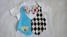 Baby boy first  birthday carnival circus vest onsie with bowtie/photo prop,cake smash  outfit 18 m on Etsy, $19.00