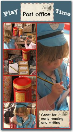 Role play post office for preschoolers: a great way to encourage early reading and writing skills