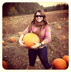 preppy pumpkin picking