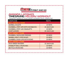 Timesaving Holiday Workouts. Full-body program - plus cardio circuits. Just print and go!