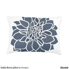 Dahlia flower pillow