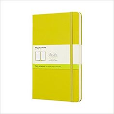 Moleskine Classic Notebook, Large, Plain, Yellow Dandelion, Hard Cover (5 x 8.25): Moleskine: 8058341715406: Books - Amazon.ca
