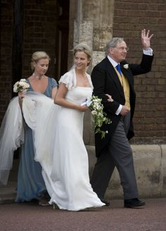 Lady Rose arrives at the chapel with her father, the Duke of Gloucester
