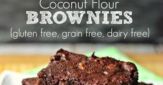 Coconut Flour Brownies are a great better-for-you alternative to the traditional brownie. Made with coconut flour, coconut oil and cocoa. Moist, chocolate-y and delicious!