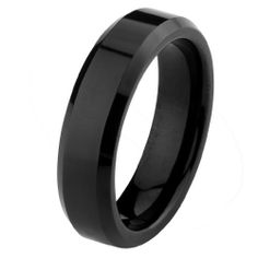 Valentines Day 6mm Beveled Edge Black Cobalt Free Tungsten Carbide COMFORT-FIT Wedding Band Ring for Men and Women (Size 5 to 15) The World Jewelry Center. $18.00. scratch proof. Promptly Packaged with Free Gift Box and Gift Bag. Tungsten has a tendency to break when hit with a hard material