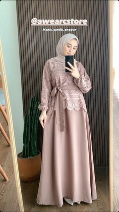 Dress Brokat Muslim, Dress Brokat Modern, Kebaya Modern Dress, Kebaya Dress, Dress Pesta, Muslim Dress, Model Kebaya Brokat Modern, Kebaya Hijab, Modern Hijab Fashion