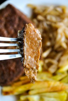 Delicious homemade vegan seitan steaks. Great and tasty meat alternative. Protein rich, too.
