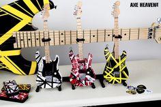 5813a5b0bdf EVH Set of 3 Eddie Van Halen Mini Guitar Replica Collectibles - Officially  Licensed