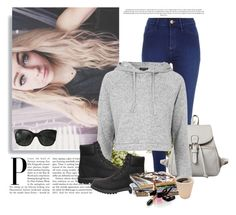 """""""Untitled #384"""" by kingbella on Polyvore featuring River Island, Topshop, Timberland, Chanel and Nearly Natural"""