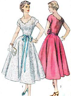 jaren 1950 jurk patroon eenvoud 4295 van NeenerbeenerKnits op Etsy