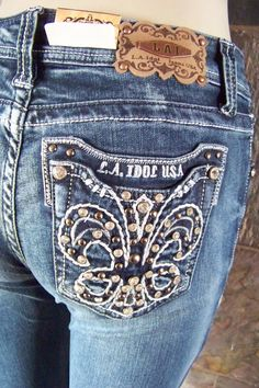 La Idol bling embellished boot cut  jeans sizes are 0 1 3 5 7 9 11 13