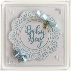 Lunasdatters Scrapbooking: Baby kort - Dreng