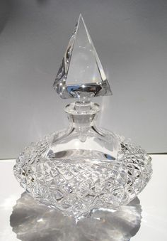 Cut crystal. Leaded Crystal Prefume Bottle.